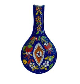 Black Sea Pottery Relief Spoon Rest (Dark Blue)