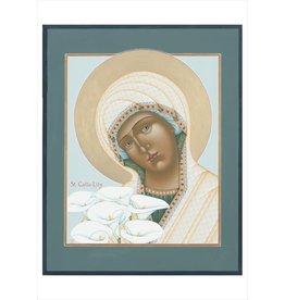 "Olga Volchkova ""Saint Calla Lily"" Notecard"