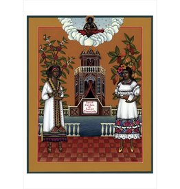 "Olga Volchkova ""Saint Coffee & Saint Chocolate"" Notecard"
