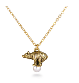 """Fabergé """"Bear on a Pearl"""" Necklace"""
