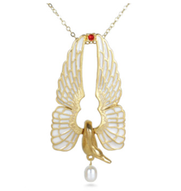 Imperial Swan Pendant with Pearl