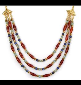 Folk Bead Carnelian Collar Necklace