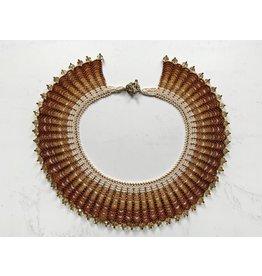 "OVS Beaded ""Golden Collar"" Necklace"