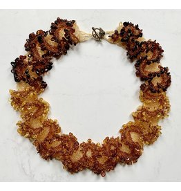 OVS Ombre Amber Wreath Necklace