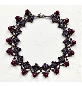 OVS Purple Choker with Round Beads