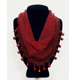 """OVS """"Red Kerchief"""" Beaded Necklace"""
