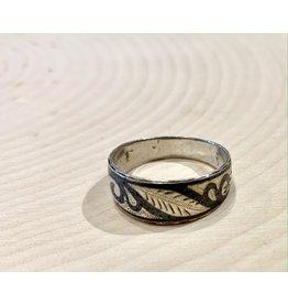 Vintage Soviet Etched Ring