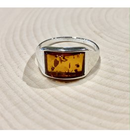 Amber Ring (Rectangle Inset)