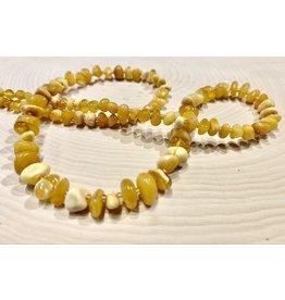 "Polish Yellow Amber Necklace (11"")"