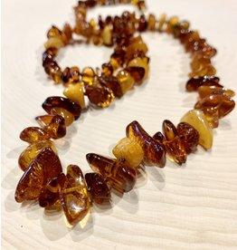 "Polish Cognac & Honey Amber Necklace (10"")"