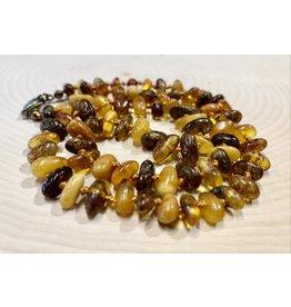 """Polish Stonewash Amber Necklace (9"""")"""