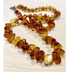 """Polish Amber Necklace with Yellow Amber (8"""")"""