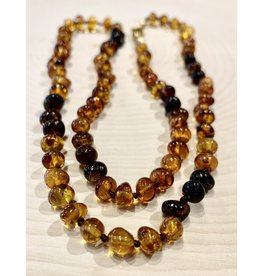 """Polish Amber Necklace with Cherry Amber (10"""")"""