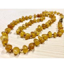 "Polish Yellow Amber Necklace (9"")"
