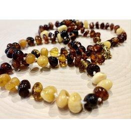 "Polish Multicolored Amber Necklace (12"")"