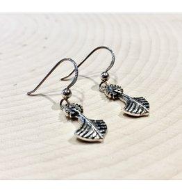 Sterling Runic Symbol Earrings