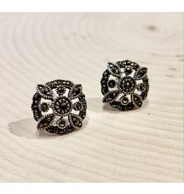 """""""Catherine the Great"""" Silver Stud Earrings"""