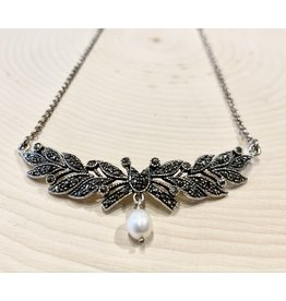 """""""Catherine the Great"""" Silver Necklace with Pearl"""