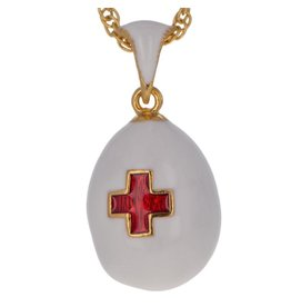 """Fabergé Egg """"Imperial Red Cross"""" Necklace"""