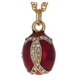 """Fabergé Egg """"Red Venetia"""" Necklace"""