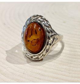 Celtic Amber Ring