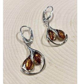Calla Lily Amber Earrings