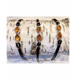 Amber Infinity Cord Bracelet