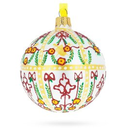 Imperial Holiday Glass Ornament (White)