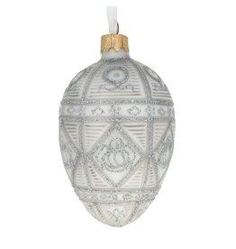 Glass Fabergé Egg Ornament (Alexander II)