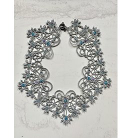 """OVS """"White Nights"""" Tatted Silver Necklace"""