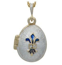 """Fabergé Egg """"Fleur de Lis"""" Necklace"""