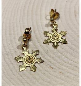 Imperial Snowflake Earrings (Gold)