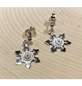 Imperial Snowflake Earrings (Silver)