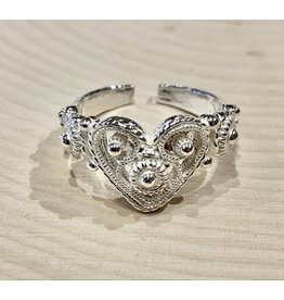Traditional Slavic Heart Ring (Adjustable)