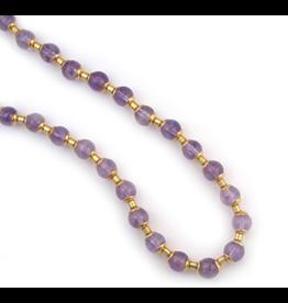 Tatar Amethyst Folk Bead Necklace
