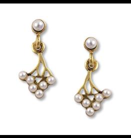 Russian Mimosa Flower Earrings