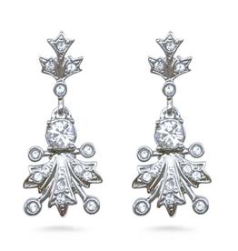 """Fabergé """"Winter Frost"""" Swarovski Earrings"""