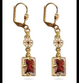 "Fabergé ""Imperial Poppy"" Earrings"