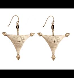 Traditional Ukrainian Folk Earrings (Triangle)