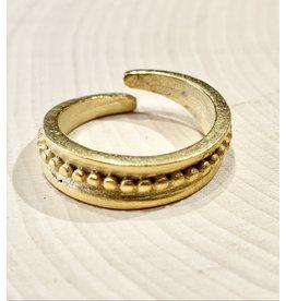 Gold Slavic Folk Ring