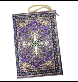 Purple Tapestry Zipper Pouch