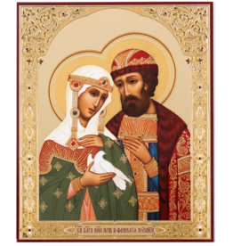 """Russian Orthodox """"Peter and Fevronia of Murom"""" Icon"""