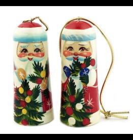 Russian Hand-Painted Santa Ornament