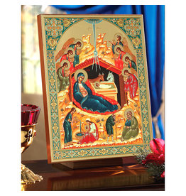 Gold Embossed Nativity Icon