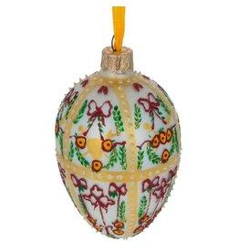 Glass Fabergé Egg Ornament (Gatchina Holiday)