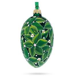 Glass Fabergé Egg Ornament (Bay Tree)