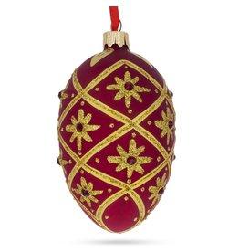 Glass Fabergé Egg Ornament (Holiday Stars)