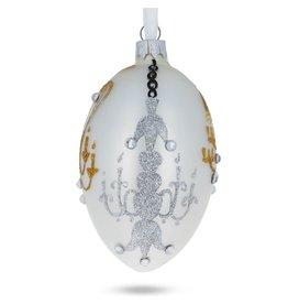 Glass Fabergé Egg Ornament (Chandeliers)