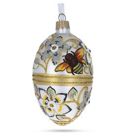 Glass Fabergé Egg Ornament (Bees)