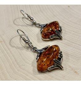 Art Nouveau Amber Earrings